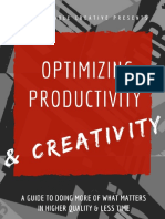 Optimizing Productivity Creativity