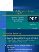 Microcontrolled Irrigation System