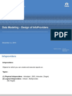Data Modeling – Design of InfoProviders