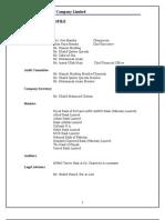 Report on D.G. Khan Cement