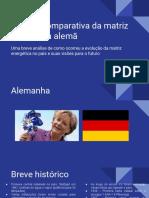 Análise Da Matriz Energética Alemã