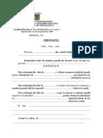 Ordonanţă de Dispunere a Expertizei Medico-legale Psihiatrice