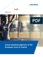 Actual News Flash July 2017 Actual selected judgments of the European Court of Justice