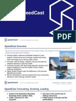 Customer presentation. SpeedCast