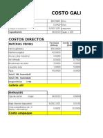 Costo Producto Soda Field