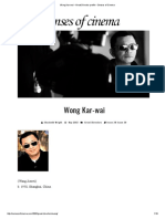 Wong Kar-wai • Great Director Profile • Senses of Cinema