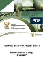 ESKOM & IPP Impasse to PCE 20 June 2017 Presentation by DOE