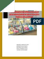 Procedimientos Operacionales Estandarizados de Sanitización Poes-heladeria