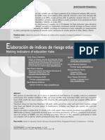 Índices de riesgo educativo