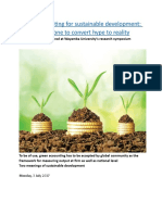 Green accounting for sustainable development  Much to be done to convert hype to reality.docx