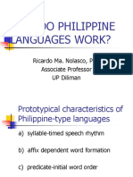 How Do Philippine Languages Work
