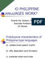 How Do Philippine Languages Work