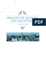 Analisis de Agua de Uso Industrial