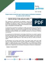 Nota de Prensa Nº 137-2017 - ALA OCOÑA PAUSA