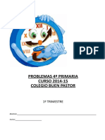 Cuadernillo Problemas 4º EP 1º TRIMESTRE Curso 2014-15