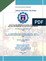 LA TRANCENDENCIA DE LA REBELIONES DEL SUR DEL VIRREINATO PERUANO EN LA SEGUNDA DECADA DEL SIGLO XIX