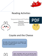 Coyote and Cheese Reading Activities