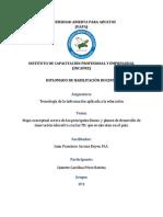 Mapa Conceptual Primeras Lineas y Planes de Desarrollo de Innovaciones Educativas Con Las Tic
