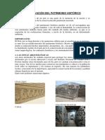 Conservación Del Patrimonio Histórico