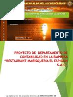 Viernesproyecto de Departamento de Contabilidad en La Empresa