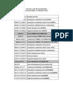 Calendario Academico EHU 2017