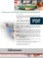 Jornadas de presentacion de maquinaria en Hersan Julio 2017