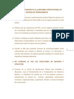 Propuestas Transparencia DIP. ELVIA PEREZ