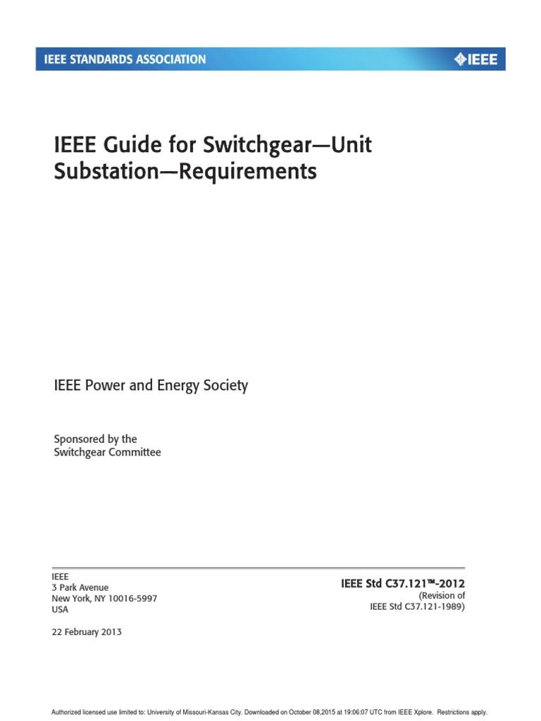 296409147 ieee switchgear pdf electrical substation high voltage rh scribd com
