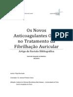 Os Novos Anticoagulantes Orais No Tratamento Da Fibrilação Atrial