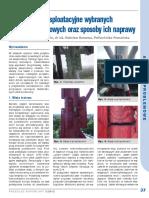 Uszkodzenia eksploatacyjne wybranych konstrukcji stalowych oraz sposoby ich naprawy