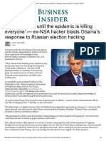 Ex-NSA Hacker Blasts Obama's Response to Russian Election Hacking - Business Insider