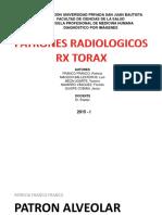 SEMINARIO 2 Patrones RX Torax