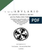 Vocabulario en Lengua Mixteca 1953