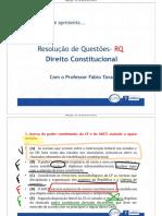 Material Do Professor - Direito Constitucional - Questões(1)
