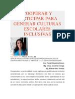 Cooperar y Participar Para Generar Culturas Escolares Inclusivas
