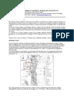 Estructura de La Sierra Vaqueros, Modelado Analógico