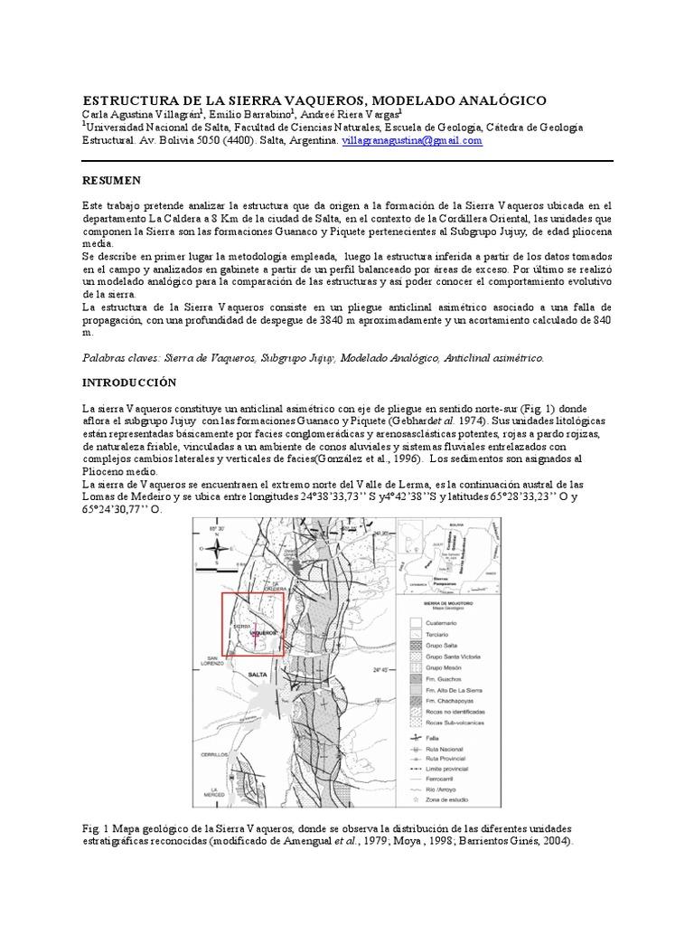 Estructura De La Sierra Vaqueros Modelado Analógico