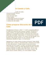 Bizcocho de Canela y Cafe