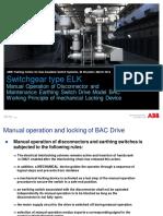 Switchgear ELK Manual Operation BAC