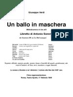 Un Ballo in Maschera - libretto