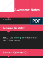 taking awesome notes