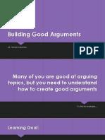 building good arguments