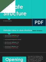 debate structure