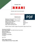 Ernani - libretto