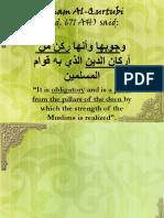 Imam Al-Qurtubi on Khilafah
