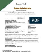 La Forza del Destino - libretto