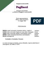 Pagliacci - libretto