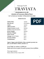 La Traviata - libretto
