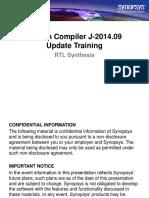 Design Compiler J-2014.09 TrainingUpdate