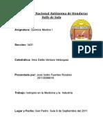 Isotopos en La Medicina e Industria- Jose Isidro 20112006618